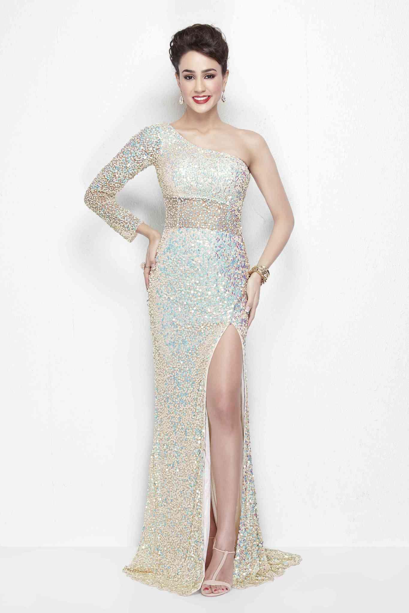 Великолепное платье в пол Elisa 98158 с разрезом по ноге