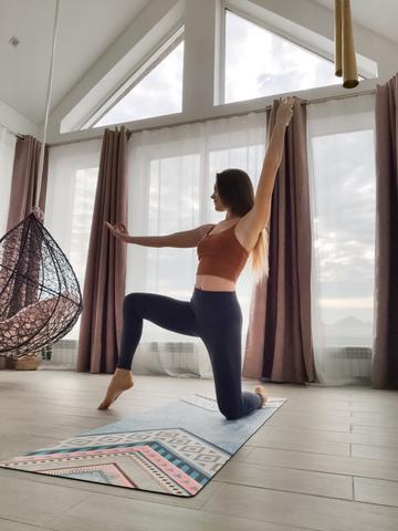 Коврик для йоги Mirror 183*61*0,3 см из микрофибры и каучука