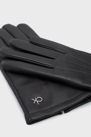 Мужские черные кожаные перчатки GLOVES LEATHER W BOX Calvin Klein