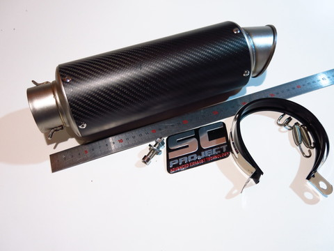 Глушитель SC Project 61мм 370мм карбон