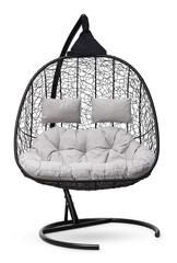 Подвесное кресло для двоих SEVILLA TWIN черное