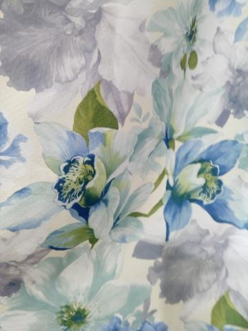 Блэкаут цветы голубые. Арт. КL-11-01