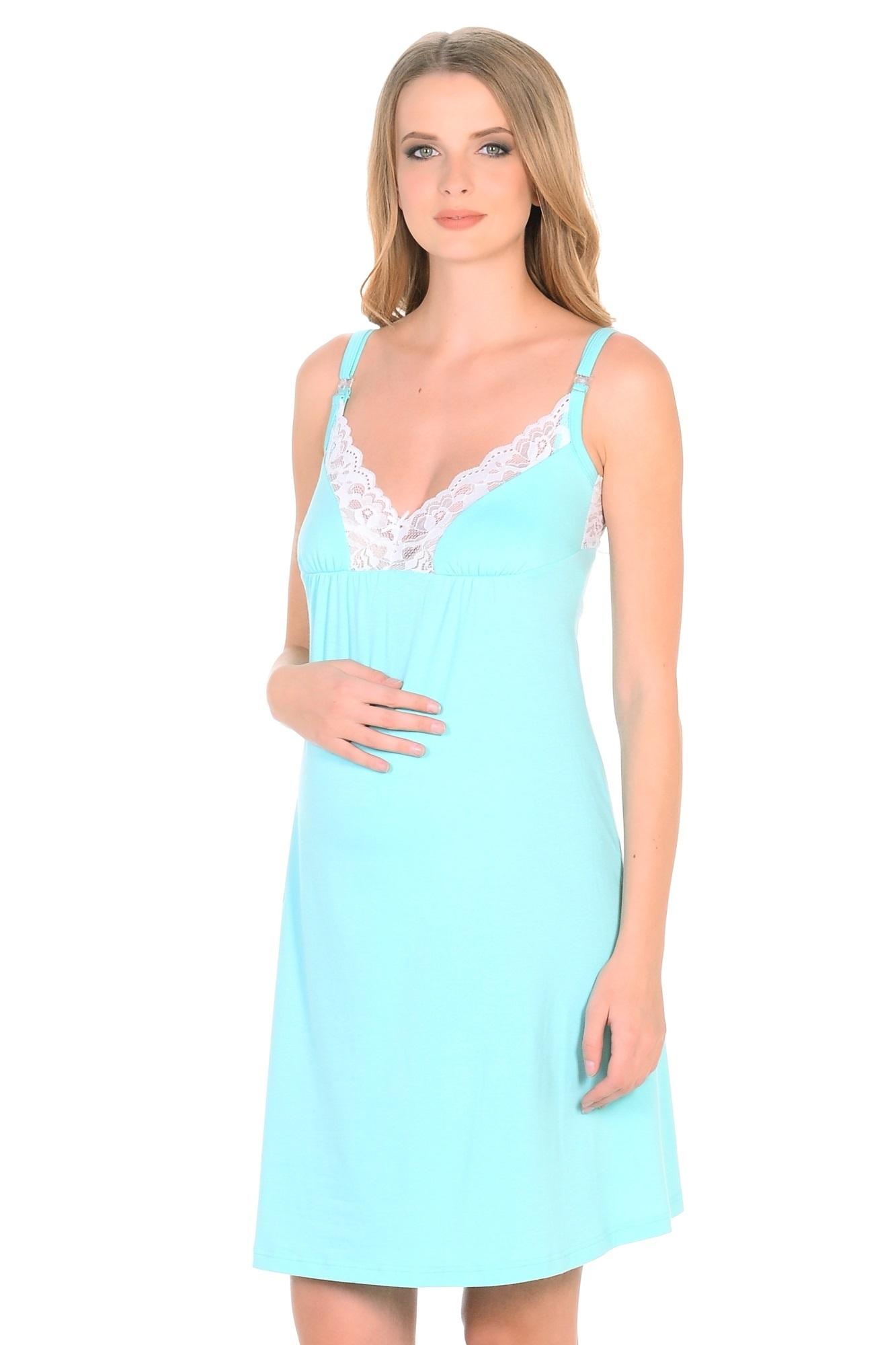 Ночная сорочка для беременных и кормящих 09910 зеленый