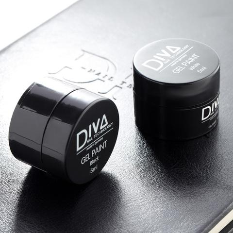 Гель-краска DIVA Paint black (без липкого слоя) 5мл