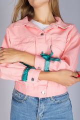 джинсовая куртка розовая женская интернет-магазин