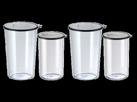 - bamix Набор стаканов Bamix 450.019 400мл+600мл с крышками 2 штуки
