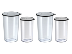 bamix Набор стаканов Bamix 450.019 400мл+600мл с крышками 2 штуки
