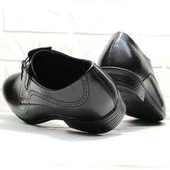 Броги туфли мужские кожаные koc 3416-1 Black Leather.