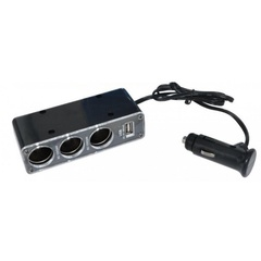 Разветвитель на 3 гнезда + USB Stealth CH-312