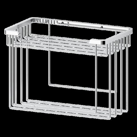 Полочка-решетка прямоугольная 26 см с держателями для мочалок RYNA    RYN 036 FBS