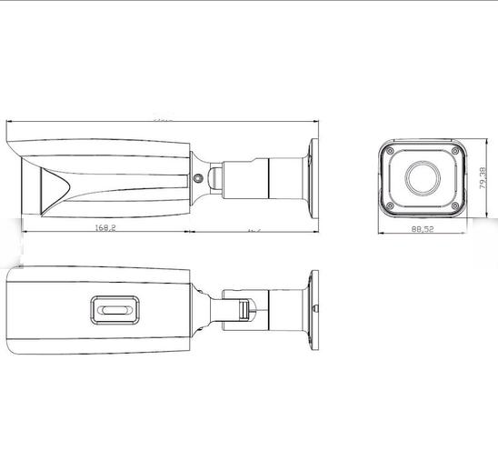 Уличная видеокаемра для видеонаблюдения CAICO TECH DSV-327A CMOS SONY IMX 327 ; STARLIGHT 2Mpix AHD TVI 4 в 1