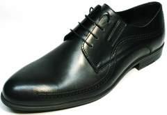 Кожаные туфли под костюм мужские Ikos 3416-4 Dark Blue.