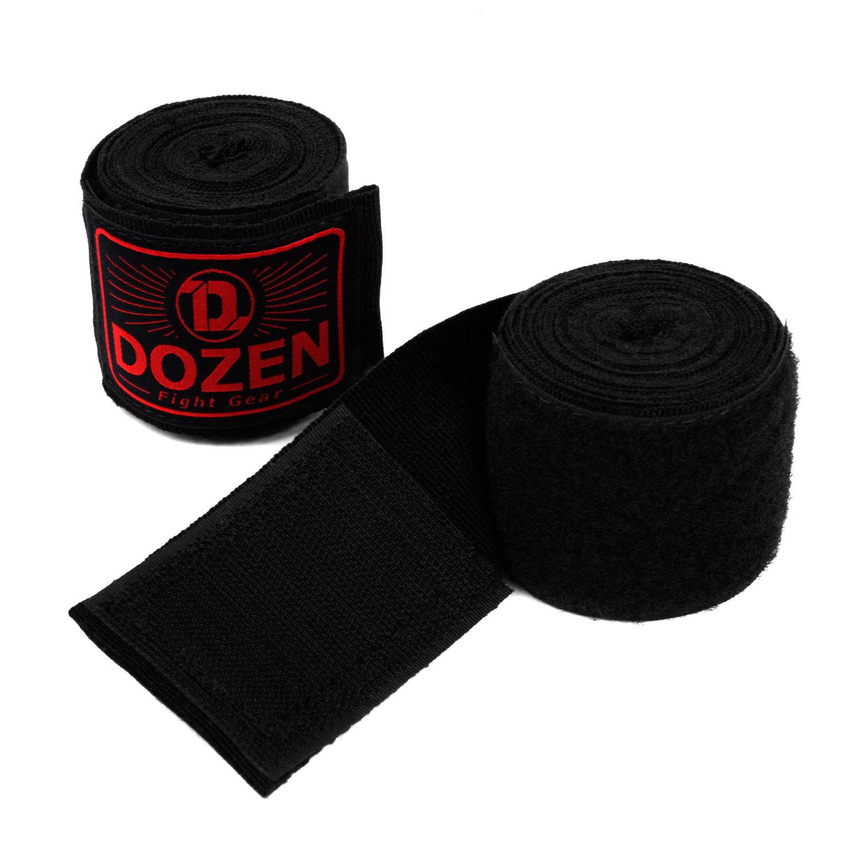 Бинты черно-красные Dozen Monochrome Semi-elastic вид липучка
