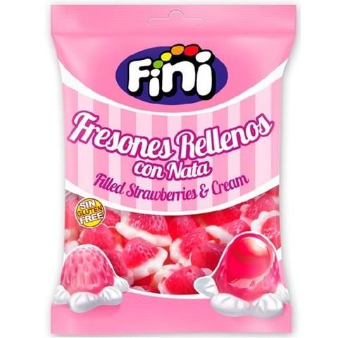 Жевательный мармелад Fini Filled Strawberries cream 90 гр