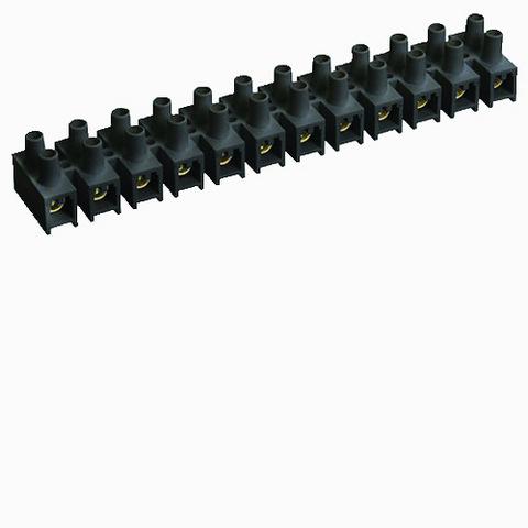 Зажим винтовой ЗВИ-150 полипропилен 10-35мм2 12пар 100°С черный TDM