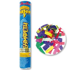 """Пневмохлопушка """"Разноцветные конфетти"""" 30 см (бумага)"""