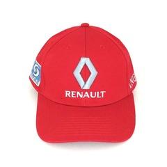 Кепка с вышитым логотипом Рено (Кепка RENAULT) красная