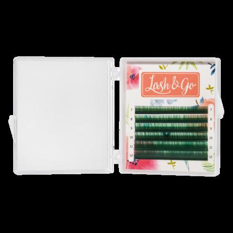 Купить Зеленые ресницы для наращивания Lash Go 6 линий (микс длин) в официальном магазине Lash-Go.ru