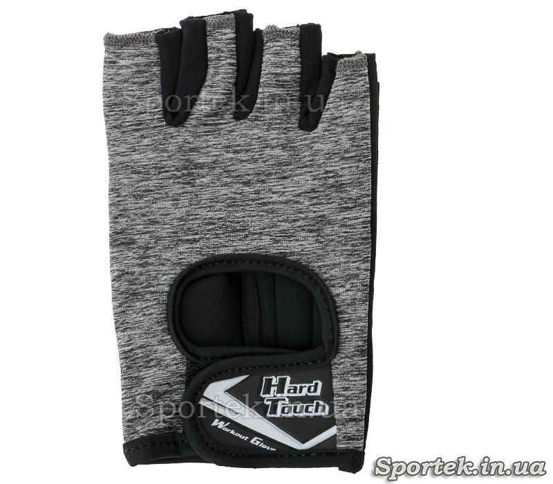 Перчатки HARD TOUCH c открытыми пальцами, размеры XS-L (FG-008) - серые