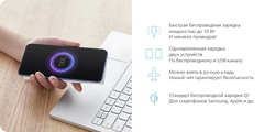 Аккумулятор Xiaomi Mi Wireless Power Bank Youth Edition 10000mAh (WPB15ZM) White