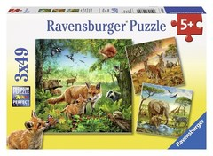 Puzzle Animals of the Earth 3x49 pcs