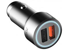Автомобильная зарядка 70mai Dual USB Car Charger, серебристый/черный