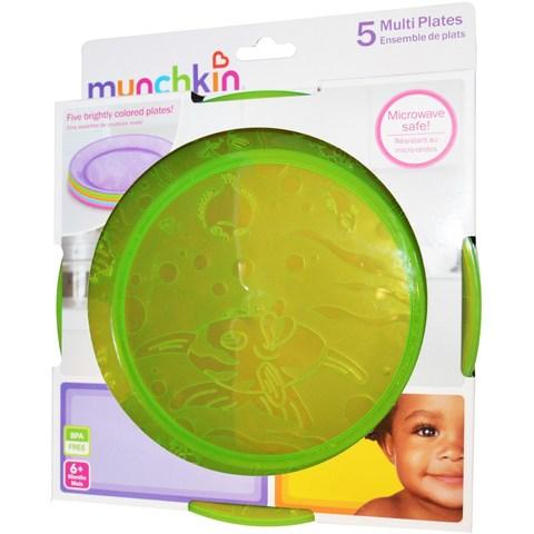 Munchkin, Детские тарелки, от 6 месяцев, 5 тарелок