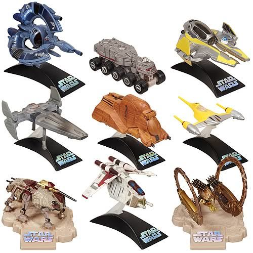 Star Wars Die Cast Titanium Vehicles Wave 01