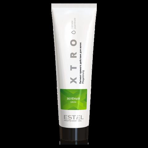 Пигмент прямого действия для волос XTRO WHITE Зеленый, 100 мл