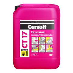 Грунтовка Ceresit CT17 глубокого проникновения морозостойкая, 5 л