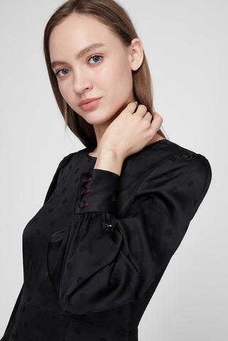 Женское черное платье POLKA DOT Tommy Hilfiger