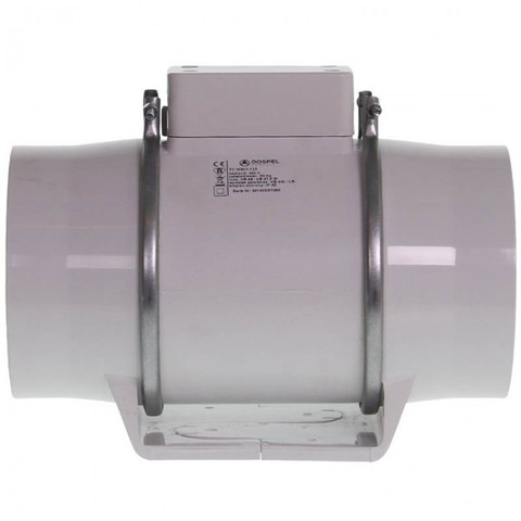 Вентилятор осевой канальный Dospel TURBO 100, две скорости, dØ100