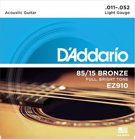 D`ADDARIO EZ910 SET ACOUS GTR 85/15 LITE