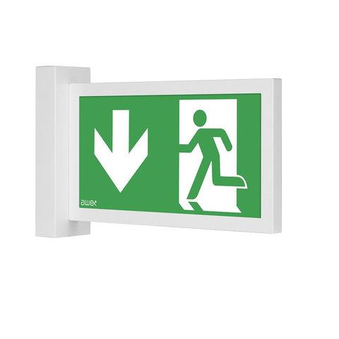 Общий вид светового указателя направления эвакуации Infinity II AW Awex
