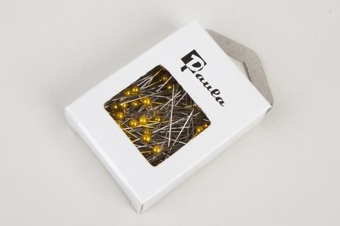 Булавка с бусинкой, 4 см (набор: 144 шт.) Цвет: лимонный