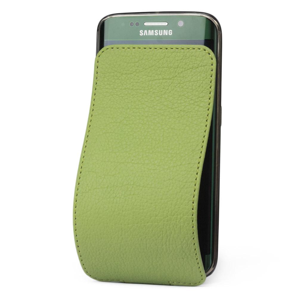 Чехол для Samsung Galaxy S6 edge из натуральной кожи теленка, цвета светлой оливы