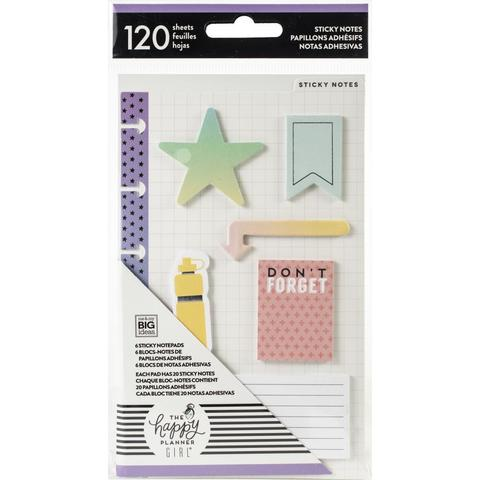 Закладки-стикеры Happy Planner Sticky Notes -Healthy -120шт
