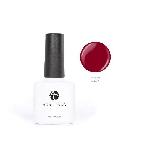Цветной гель-лак ADRICOCO №027 винный (8 мл.)
