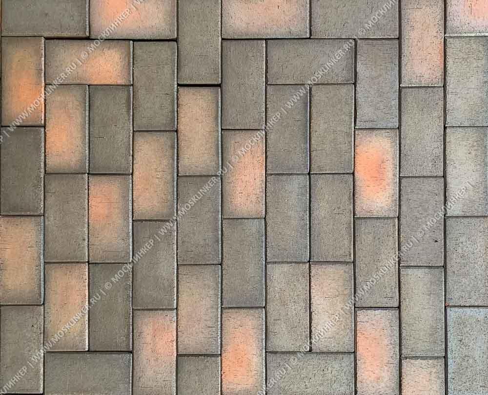 ЛСР, RAUF Design, Темно-красный флэшинг Глазго, 200x100x50 - Клинкерная тротуарная брусчатка