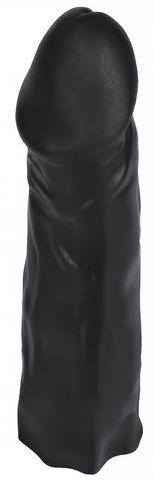 Черная насадка HARNESS для трусиков с плугом №27 - 19,5 см.