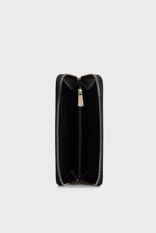 Женский черный кошелек PRE IRIS ZIP AROUND STAMPA CERVO Trussardi