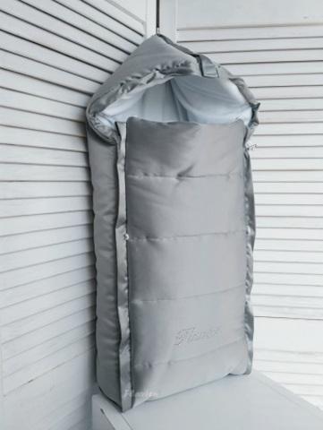 Конверт на выписку из роддома демисезонный серый КВ1014