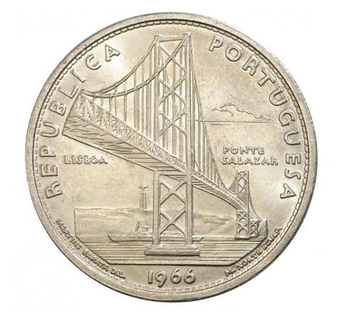 20 эскудо Открытие моста имени Салазара (сейчас мост имени 25 апреля) 1966 год, Португалия. UNC