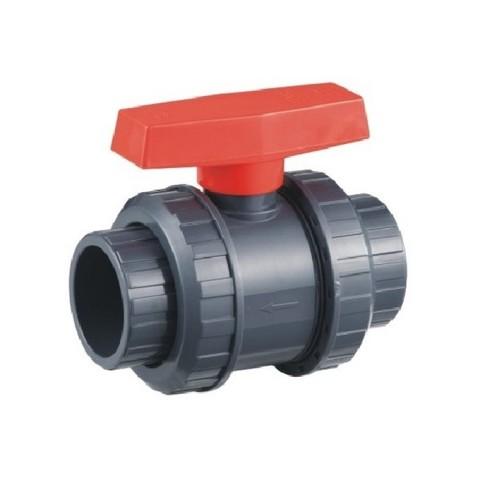 Шаровый кран ПВХ 0,6 МПа диаметр 50, UTB03050 PoolKing
