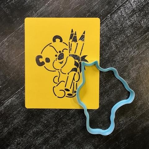 Мишка с карандашами №1