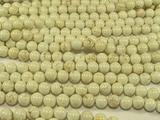 Нить бусин из магнезита белого, шар гладкий 8мм