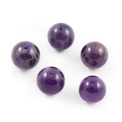 Бусины аметист A шар гладкий 10,5 мм 1 бусина