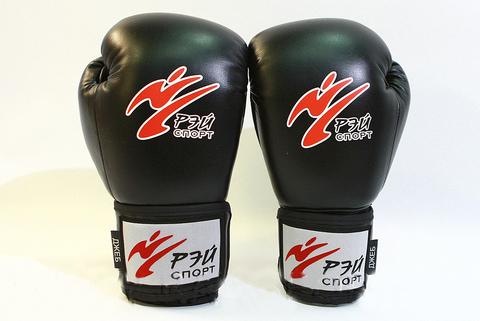 Перчатки боксерские ДЖЕБ нат.кожа чёрные