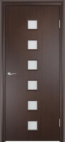 Дверь Сибирь Профиль Квадрат (С-9), цвет венге, остекленная