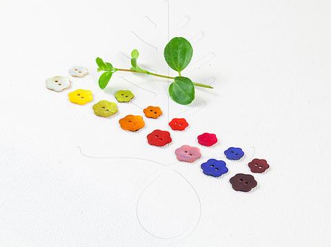 Перламутровые пуговицы 12, 15 мм, 8 цветов
